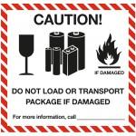 Lithium Battery Handling label